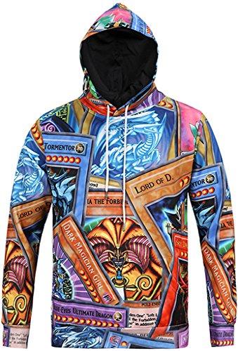 Pizoff Unisex Hip Hop Sweatshirts druck Kapuzenpullover mit Farbkleks 3D Digital Print bunt palace still Y1760-09-L (Air Us Hoodie)