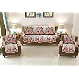Yellow Weaves™ 5 Seater Sofa and Chair Cover Set with 6 Arms Cover (Pack of 12)