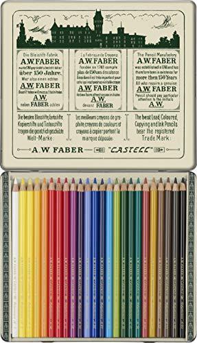 Faber-Castell 211002 - Farbstifte Polychromos, 24er Etui, 111 Jahre, in Originalaufmachung, Limitierte Auflage
