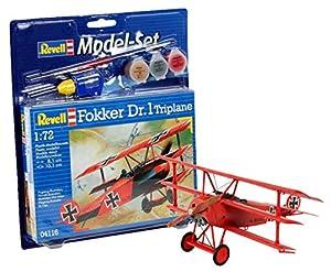 Revell Modellbausatz 64116 - Modelo Establecido Fokker Dr. 1 triplano en MaÃstab 1:72