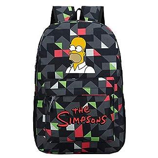 The Simpsons Mochila de Dibujos Animados Casual Mochilas Infantiles Impresión Mochilas Escolares para Niño y Niña Mochila de Viaje Mochila para Deportes al Aire Libre