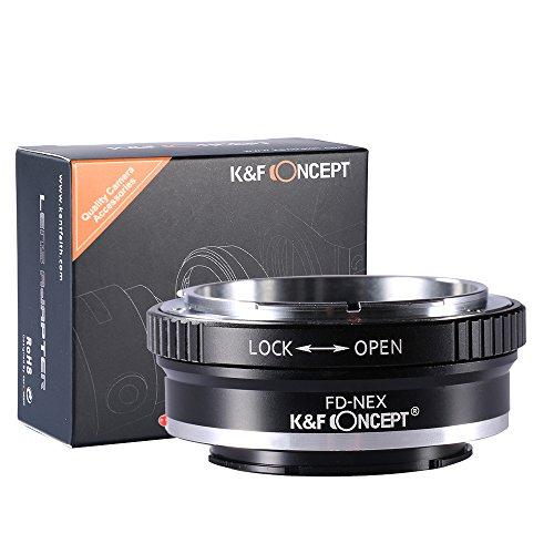 K&F Concept® FD-NEX Objektivadapter Canon FD Adapter Ring Objektiv Adapterring für Canon FD Objektiv auf Sony Alpha NEX E-Mount Kamera