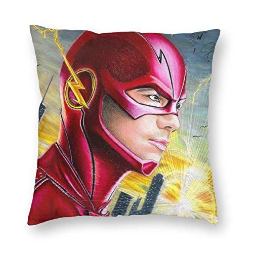 MrRui Dekorativ Kissenbezug Barry Allan The Flash Dekokissen Abdeckung Dekorative Schein für Home Bed Sofa Couch 20x20 Inch 50x50cm -