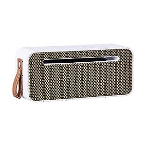 KREA Funk amove Bianco Dorato con Front–exklusiver BT altoparlante portatile Bluetooth 4.0con funzione di ricarica