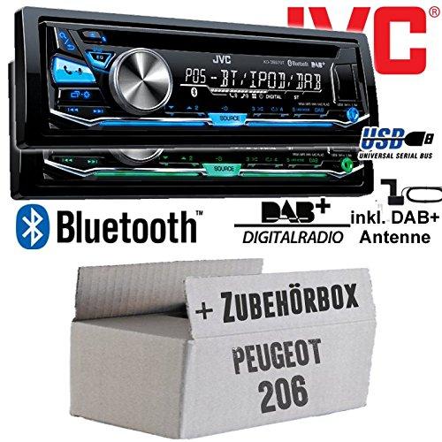 Peugeot 206 - JVC KD-DB97BT - DAB+ Digitalradio | Bluetooth | USB...
