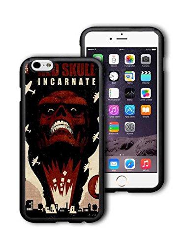 Apple iPhone 6 Plus,iPhone 6S Plus (5.5 Pollici) Custodia Case Cover, Red Skull Marvel Comics Etui Red Skull DC Comics Cover per iPhone 6 Plus,iPhone 6S Plus