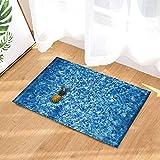 Best Black Diamond Shower Tiles - fuhuaxi Tropical Fruit Pineapple in Pool Grid Tile Review