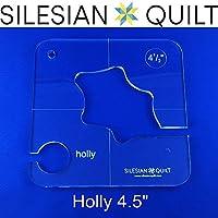 Plantilla para quilting Holly 4.5 pulgadas (encaja FMQ Grip 5)