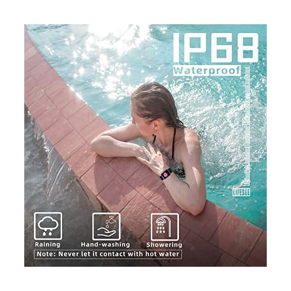 LIFEBEE Smartwatch, Reloj Inteligente Impermeable IP68 para Hombre Mujer niños, Pulsera de Actividad Inteligente con… 7