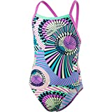 Speedo - Ethno Funk Maillot de Bain - Fille - Marine/Violet - FR: 14 ans (Taille Fabricant: 32)