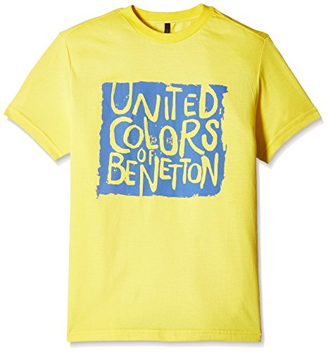 United Colors of Benetton Baby Boys' T-Shirt (16P3096C0047I10F_Yellow_2Y)