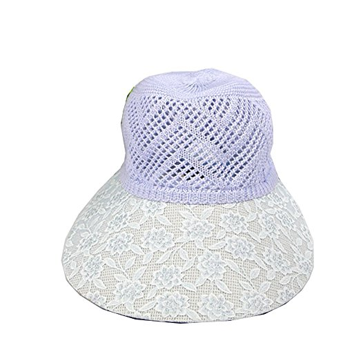 Fahion paille ¨¤ larges bords Cap Beach Sun Hat Surker femmes Bleu