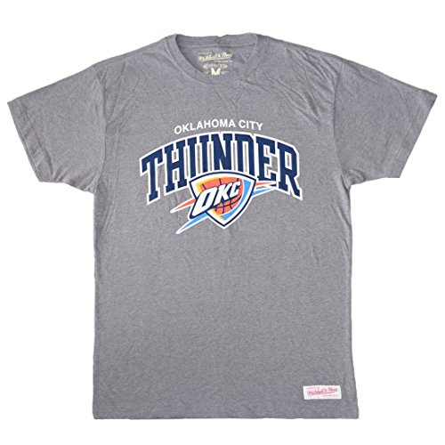 Mitchell & Ness - T-shirt NBA Oklahoma Thunder Mitchell & Ness team arch traditionnal tee gris pour homme Grau