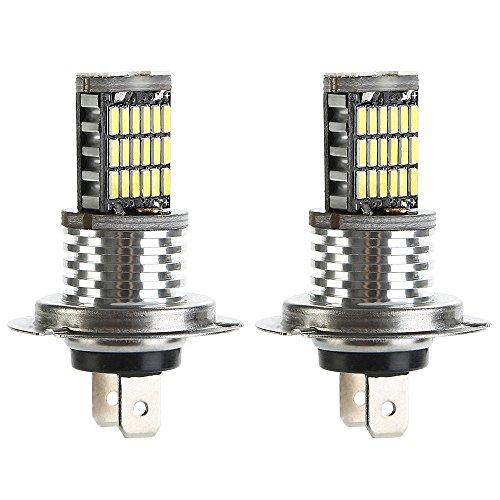 Preisvergleich Produktbild 2er Pack 16W 1000 Lumen pro Birne,  H7 LED Lampe Nebelscheinwerfer Tagfahrlicht TFL Lampe Xenon-Weiß 6500K