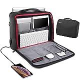 REYLEO Borsa per PC portatile 15.6 pollici e tablet con porta USB Uomo Laptop Borsa Messenger a Spalla Borsa a Tracolla Multifunzione da Viaggio Impermeabile per Lavoro/Ufficio Nero LCB2A