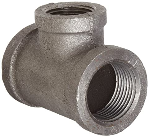 Anvil 8700121653 Malleable Iron Pipe Fitting, Reducing Tee, 1