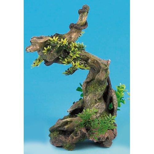 """Bonsai On Driftwood 12"""" Fish Tank Ornament"""