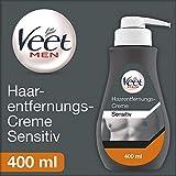 Veet Men Haarentfernungscreme - schnelle und effektive Haarentfernung für Männer in nur 5-10 Minuten - 400 ml