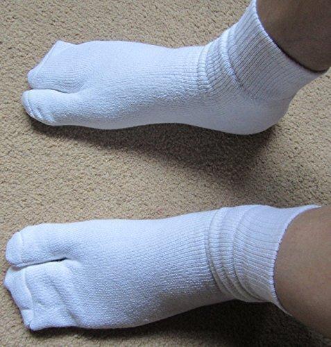 Disfraces, fiesta, calcetines del dedo del pie Ninja TABI flashsellerz blanco Senior
