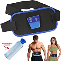 Unisex Mens Womens Original Abs Gymnic Electronic Toning Belt Body Massager Tummy Waist Quad Muscle With Conductive Gel Bottle