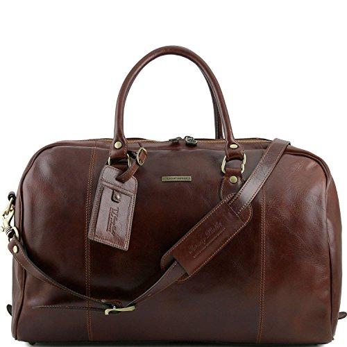 Tuscany Leather - TL Voyager - Borsa da viaggio in pelle Rosso - TL141218/4 Marrone