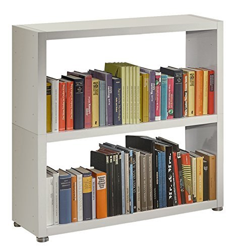 Regalsystem Raumteiler Bücherregal Standregal READY 22B Weiß Seidenmatt 92x 9...