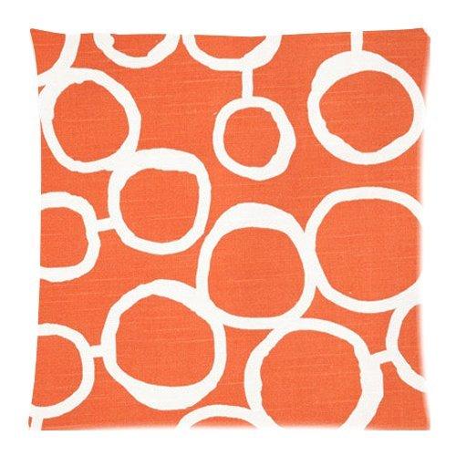 ZHIZIQIU The 2019 Tangerine Orange Premier Prints Freehand Tangelo Slub Pillow Cases - 18x18
