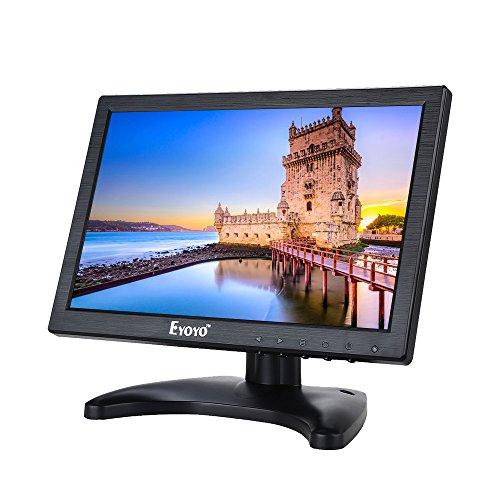 Eyoyo 10 Zoll Monitor HDMI IPS LCD HD 1280x800 Monitor Video Audio mit HDMI VGA AV BNC Eingang Für Haus Sicherheit Computer CCTV mit Lautsprechern (10'' 1280x800 IPS) - Video-kamera Mit Av-eingang