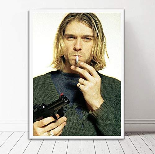 NOVELOVE Imagen Arte Pared Kurt Cobain Rock Music
