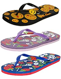 Earton Women pack of 3 Flip-Flops & House Slippers
