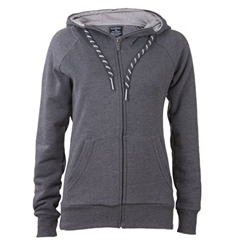 NEW VIEW da donna giacca con cappuccio | felpa | a maniche lunghe felpa con cappuccio | morbida & caldo | colori alla moda | S-4x l grigio scuro XL