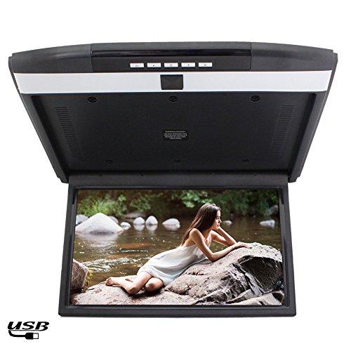 Digital-Bildschirm mit HD-Aufl?sung 1366 x 768 LCD-Overhead / Deckenmonitor 15 Zoll Widescreen f¨¹r den universellen Auto Automobil eingebauten FM-Modulator / Fernbedienung Flip unten Auto-Monitor -