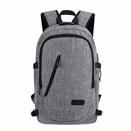 Diebstahlschutz und Regendicht Farbe blockierender Rucksack mit USB Ladeanschluss 20L kompatibel für Laptop in 39,6cm 2017Accessoire-Kollektion