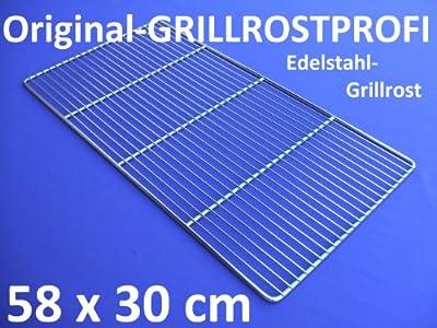 Edelstahl-Grillrost 58 x 30 cm
