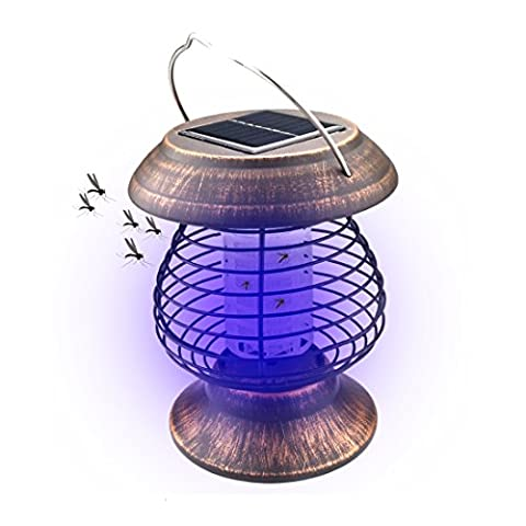 A-SZCXTOP Solar Mosquito Killer Lamp Indoor & Outdoor Insect Killer Waterproof Bug Zapper Light for Garden Decoration Camping