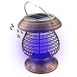 A-SZCXTOP Lampe anti-moustique solaire Killer Intérieur et extérieur Insect Killer LED UV Lampe Bug Zapper Light pour jardin Décoration Camping pêche