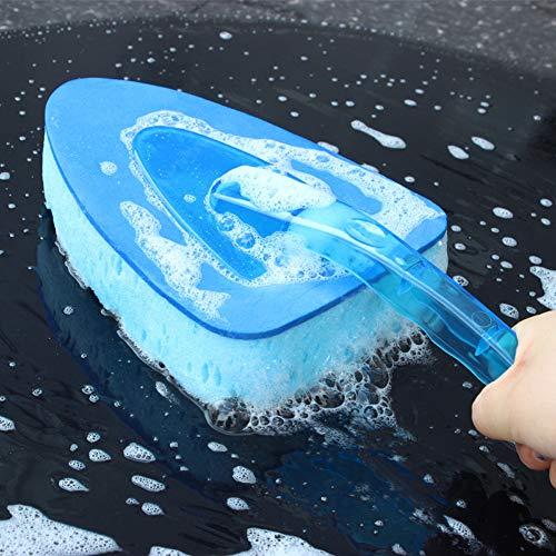 HXGOODS Auto Dreieck Schwamm waschen Reinigungsbürste Staub Wachs Pinsel blau - Haare Waschen Wachs