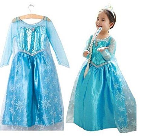 Imagen de vestido frozen niñas disfraz anna elsa 110 3 4 años  alternativa