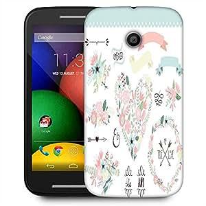Snoogg Wedding Graphic Set Designer Protective Phone Back Case Cover For Motorola E / Moto E