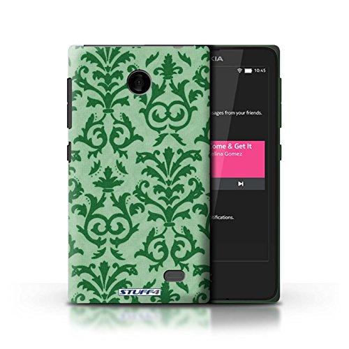 Kobalt® Imprimé Etui / Coque pour Nokia X / Jaune conception / Série Motif de défilement Vert