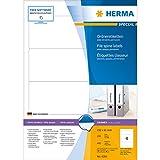 Produkt-Bild: Herma 4284 Ordnerrücken blickdicht, breit/kurz (192 x 61 mm) 400 Ordneretiketten, 100 Blatt DIN A4 Papier matt, weiß, bedruckbar, selbstklebend