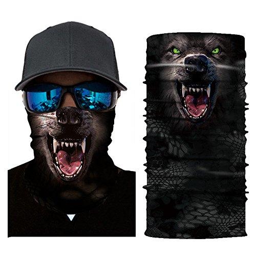 mxjeeio Erwachsene Multifunktionstuch Sturmhaube Sturmmaske, Motorradmaske Skimaske Gesichtsschutz Windschutz-Sonnenschutzkragen der Männer und der Frauen im Freien magische Kopftuchmaske reiten\n