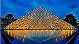 SGDDGF Impresión Creativa de Carteles, pirámide del Museo del Louvre para decoración del hogar de la habitación 40X60 sin Marco