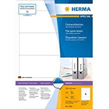 Herma 4284 Ordnerrücken-Etiketten (Papier matt, 192 x 61 mm) 400 Stück weiß