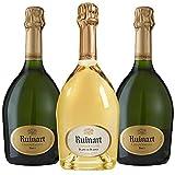 Champagne - Lot Ruinart - 1 Ruinart Blanc de Blancs - 2 Ruinart R Brut - 3x75cl