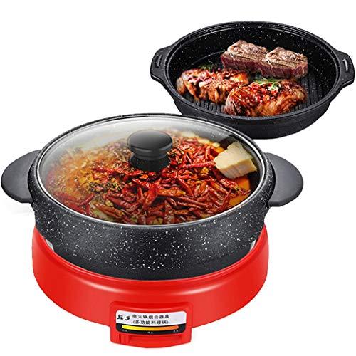 Koreanischer runder Topfgrill heißer Topf ein maifan Stein nicht haftender elektrischer heißer Topfgrill-Topf unterschiedlicher Multifunktionspotentiometer - Kochen-stein Koreanisch