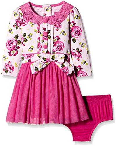 Nauti Nati Baby Girls' Dress (NAW15-184_Multi-Coloured_18-24M)