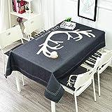 tablecloth Tischdecke Wasserdicht, Anti-Verbrühung, Öl-Proof und einfach zu reinigen Hochwertige Dickes Leinen Tischdecke, Einfache Anti-Heat Rechteckiger Couchtisch Restaurant Tischdecke Geeignet fü
