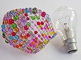Wahl von 6Farben Lampenschirm Kristall Kronleuchter Lüster Glasperlen inspiriert Licht Glühbirne GLS-Glühbirne Sleeve, Anhänger Lampe Schatten Alternative Leuchte Tropfen Perlen Kitsch von seear Lights (Multi)