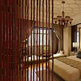 GuoWei-Cortinas de Cuentas Bambú Cuerdas Tabique Colgando Decoración para Habitación Cocina Retro Personalizable (Tamaño : 45 Strings-0.9x1.8m)